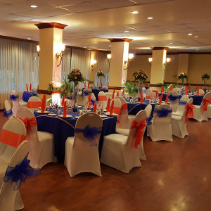 Blue and Coral in The Waverly Room