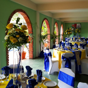 Royal Blue and Yellow in The Arches